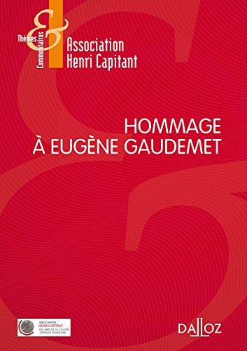 Hommage à Eugène Gaudemet - 1re édition par Association Henri Capitant