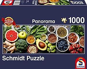 Schmidt Spiele Puzzle 58361Panorama Puzzle, en el Tablero de Cocina, Puzzle de 1000Piezas