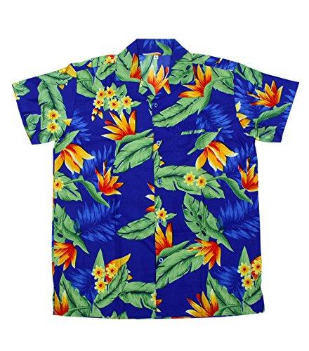 SAITARK Herren Freizeit-Hemd mehrfarbig mehrfarbig One size BLUE Y.F.