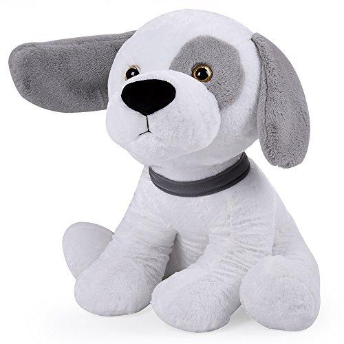 Großer Stoffhund XL 58 cm ✔ schlapp Ohren ✔ extra weiches Fell ✔ Halsband ✔ süße Schnauze ✔ Schwänzchen ✔ Plüschtier Plüschhund Stofftier Kuscheltier