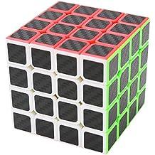 Puzzle Cube 4x4x4 Coolzon® Cubo Magico con Pegatina de Fibra de Carbono Velocidad
