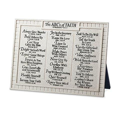 Lighthouse Christian Products Small ABC's of Faith Desktop Plaque, 8 x 6