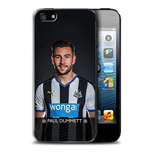 Offiziell Newcastle United FC Hülle / Case für Apple iPhone 5/5S / Pack 25pcs Muster / NUFC Fussballspieler 15/16 Kollektion Dummett