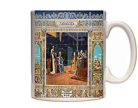 Mug 2024 639020 Zaragoza Tile The Accord Of Caspe 1412 Seville Spain Ceramic Cup Gift Box