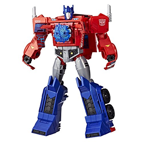 Transformers Toys�Optimus Prime�Cyberverse Ultimate Class Action Figure �Repeatable�Matrix Mega Shot Action Attack Move Toys for Kids 6 and Up,�11.5 Inch