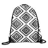 HIDFAA Kordelzug Bag Fashion Drawstring Gym Aztec Patterns Drawstring Tote Bag Travel Shoulder...
