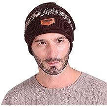 9fced930bcebf7 Bestfort Der Hut Warme Fein Strick Beanie Mütze mit Flecht Muster sehr  Weiche, Männer