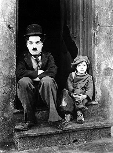 Preisvergleich Produktbild A4 'Charlie Chaplin' schwarz und weiß Poster Art