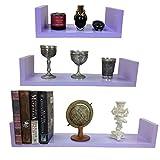 GMMH 3 er Set Design Wandregal Bücher CD Regal Cube in Verschiedene Farben Dekowürfel (hell lila)
