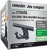 Rameder Attelage rotule démontable pour CITROËN BERLINGO/BERLINGO First Monospace +...