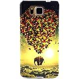 Uming® Motif imprimé coloré de cas de TPU souple [ pour Samsung Galaxy Ace4 G357 G357F SM-G357 ] Colorful Pattern Print Coque de protection Coque de téléphone portable Case Cover - Balloon elephant
