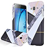 We Love Case for Samsung Galaxy J3 J310 Case, Premium PC Hard Back Marble Print Pattern Patchwork Cut Out Design Cute Clear Ultra Slim Thin Cover, Plastic Protective Shock Absorption Proof Drop Defend Anti Scratch Shell for Samsung Galaxy J3 J310 - Colorful Cutout