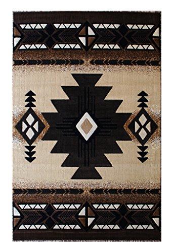 Brown Ivory-teppich (South West Bereich Teppich Design Concord C318 (3 Feet X 4 Feet 8 Inch) Berber)
