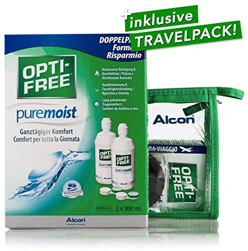 Alcon Optifree Puremoist 2x300ml Kontaktlinsen-Pflegemittel inkl. Reise-Set 90ml (Opti-Free) - 2
