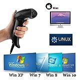 [Upgrade 2.0] 2D QR USB Barcodescanner MUNBYN Handscanner Barcode Scanner Play & Plug Handheld Lesegerät Kabelgebunden für Linux Mac und Windows PC