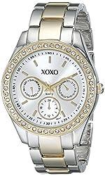 XOXO Women's XO5429 Rhinestone Accent Two-Tone Bracelet Watch