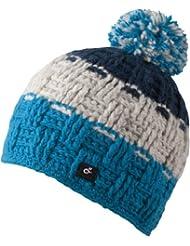 Caspar Hat - bonnet tendance tricoté avec pompon pour femmes ou également homme - fait main au Népal - 2013-14, bonnet tricoté avec intérieur polaire chapeau bobble (essence / eau)