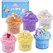 Butter Slime Kit, Non-Sticky And Stress Relief With Scented Super Soft Sludge Slime Toys for Kids Boys Girls E