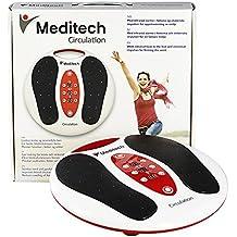 Meditech masajeador de pies electromagnético, refuerzo de la circulación de la vitalidad, 99 tipos de intensidad de onda electromagnética, 25 tipos de modo de masaje, suavizar los músculos rígidos, me (Masajeador de pies-FBA)