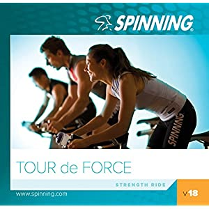 51c%2B%2Bzu8rDL. SS300  - Spinning Unisex's Volume 18 Tour De Force Exercise Music Cd, Blue, Size