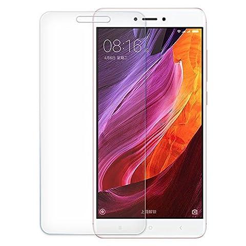 [2 Pack]Xiaomi Red Mi Note 4 Protecteur D'écran, EUGO Film Protection d'écran en Verre Trempé Glass Vitre Tempered pour Xiaomi Red Mi Note 4 - Dureté 9H, Ultra-mince 0.20 mm, 2.5D Bords Arrondis