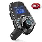 [Verbesserte Version] FM Transmitter, T11 Bluetooth FM-Transmitter, die Freisprechfunktion, USB-Auto-Ladegerät, Auto-MP3-Player-Kit mit Multi-Musik-Wiedergabe-Modi, 1,44-Zoll-Screen-Display