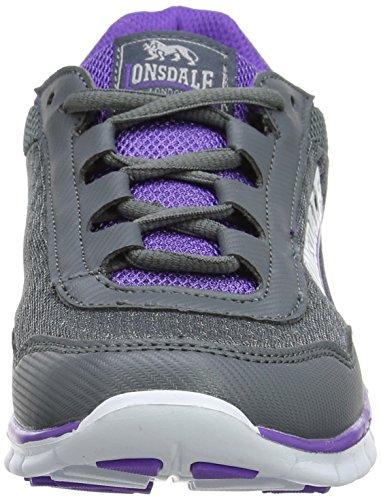 Lonsdale Damen Southwick Laufschuhe Grau (Grey/Purple)