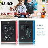 Tiptiper LCD Writing Tablet, 4,5 Zoll Elektronische Graphic Tablet Brett, bewegliche Handschrift Notizblock mit Stift für Kinder und Erwachsene zu Hause, Schule und Arbeitsamt
