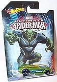 hotwheels marvel ultimate spiderman battle spec green goblin car 1.64 scale model by Hot Wheels