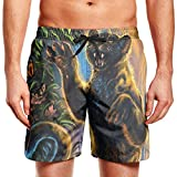 shyly XUWU Mens Surfing Board Shorts Lets Taco Bout It Swim Trunks with Drawstring,L