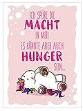 Bada Bing Wandbild Einhorn Ich Spüre Die Macht Kinderzimmer Bild 27 x 20 cm Schild Spruch Deko 10