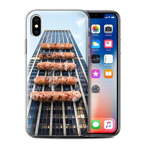 Stuff4 Gel TPU Hülle / Case für Apple iPhone X/10 / Pack 14pcs / Unten Unter Kollektion Grill/BBQ