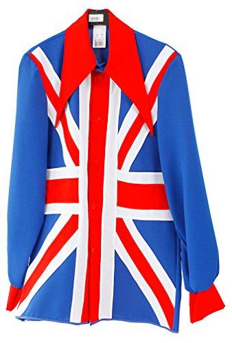 Karneval Klamotten Britain Kostüm England Union Jack Jacke englische Flagge Herren-Kostüm Brexit Kostüm Größe (Union Jack Kostüme)