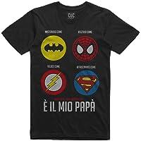 CUC Tshirt Uomo Idea Regalo Festa del papà - papà Vero Supereroe - Maglietta Papa Originale e Divertente - ChooseUrColor