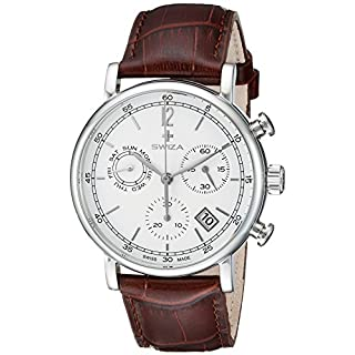 Swiza Men's WAT.0153.1001 Alza Analog Display Swiss Quartz Brown Watch