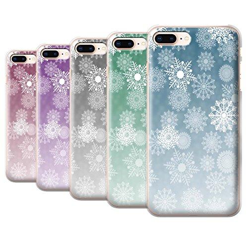 Stuff4 Hülle / Case für Apple iPhone 8 Plus / Pack 5pcs / Schneeflocke Nebel Kollektion Pack 5pcs