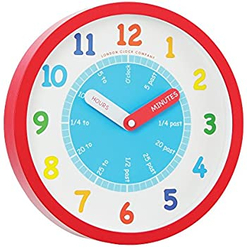 London Clock - 24183 - Kids Tell The Time Wall Clock: Amazon.co.uk ...