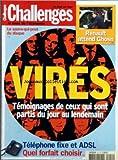 CHALLENGES [No 212] du 20/11/2003 - LE SAUVE-QUI-PEUT DU DISQUE RENAULT ATTEND GHOSN VIRES - TEMOIGNAGES DE CEUX QUI SONT PARTIS DU JOUR AU LENDEMAIN TELEPHONE FIXE ET ADSL - QUEL FORFAIT CHOISIR....
