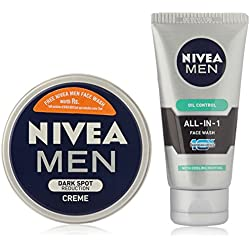 Nivea Men Dark Spot Reduction Cream, 75ml with Free Nivea Men Face Wash Worth Rs 99