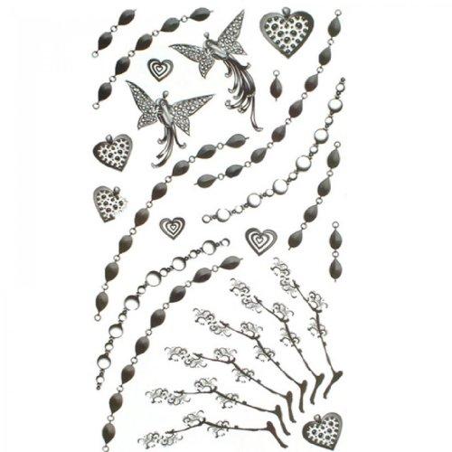 SPESTYLE wasserdicht ungiftig temporäre Tätowierung stickersjewelry temporäre Tattoos Körper gemalt Schmetterling Kette der Liebe Muster