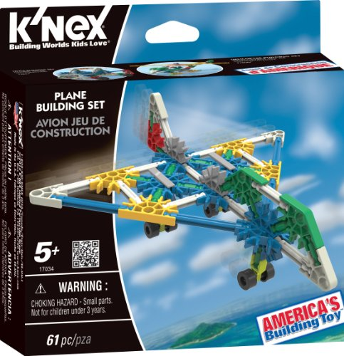K'NEX 33118A - Building Set - Classic Intro Assortment - Airplane - 61 Pieces - 5+ - Bau- und Konstruktionsspielzeug - Nerf Hubschrauber