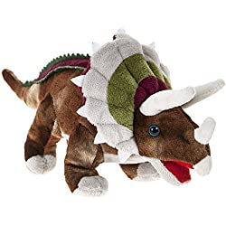 "DINOSAUR ANIMAL PLANET - Peluche Dinosaurio ""Triceratops"" 6""/16cm - Calidad Super Soft"