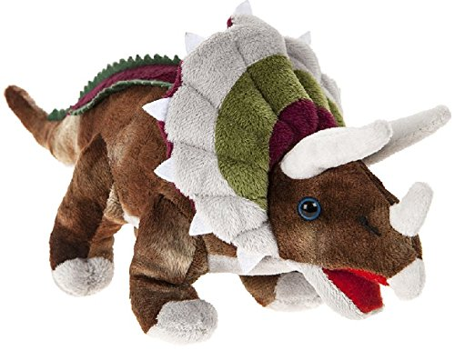 "DINOSAUR ANIMAL PLANET - Plush toy ""Triceratops"" Dinosaur of the TV program ""Animal Planet"" (6""/16cm) - Quality Super Soft"