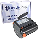 Hochleistungs Li-Ion Akku 18V / 2000mAh für Gardena Telescopic Accu Hedge Trimmer THS Li-18/42 Trimmer EasyCut and ComfortCut Trimmer EasyCut Li-18/23 R ersetzt Gardena 09840-20 BLi-18