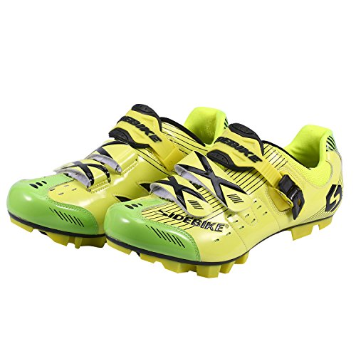Asvert Radsportschuhe für Männer Frauen Professionelle Unisex Erwachsene Phantom , Farbe - Gelb , Gr. 46 EU (Schuhe Für Den Radsport Straße)