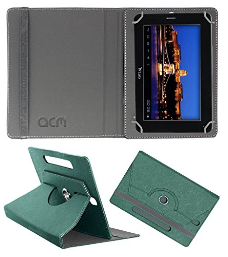 Acm Designer Rotating Leather Flip Case for Bsnl Champion W-Tab 705 Cover Stand Turquoise  available at amazon for Rs.169