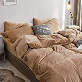 RESUXI Doppelteddy-Fleece-Bettwäscheset,Coral Fleece doppelseitiges Fleece-Bett vierteiliges Flanellnetz rote Laken Kristallbettbezug Bett, Winter FA Samt-E_Super King