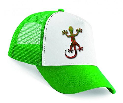 Snapback Gecko- Tier- Dschungel- Eidechse- Natur- TROPISCH- Tropen- LEGUAN- SAUGNÄPFE Unisex Baseballmütze Trucker Mützen Base Caps
