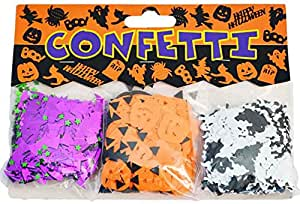 3 x HALLOWEEN PARTY TABLE CONFETTI BATS PUMPKINS GHOSTS 42g - scary spooky decor - FREE DELIVERY