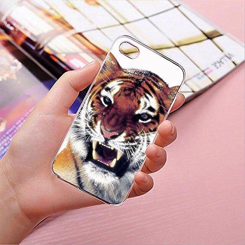 finoo | iPhone 8 Plus Handy-Tasche Schutzhülle | ultra leichte transparente Handyhülle in harter Ausführung | kratzfeste stylische Hard Schale mit Motiv Cover Case | Elefanten Marsch Tiger V2